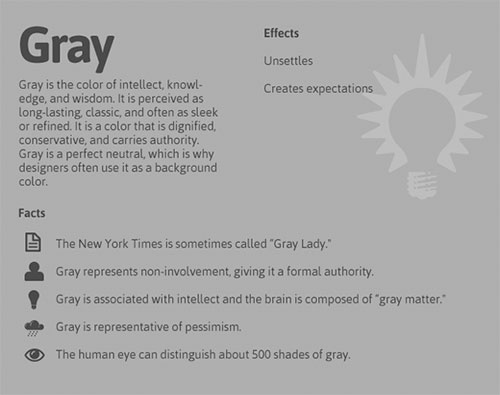psychology of colors / grey