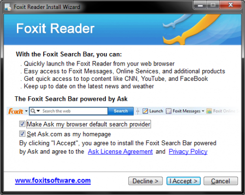 Foxit Reader example
