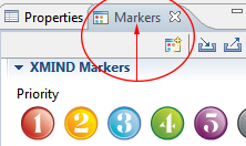 XMind markers tab
