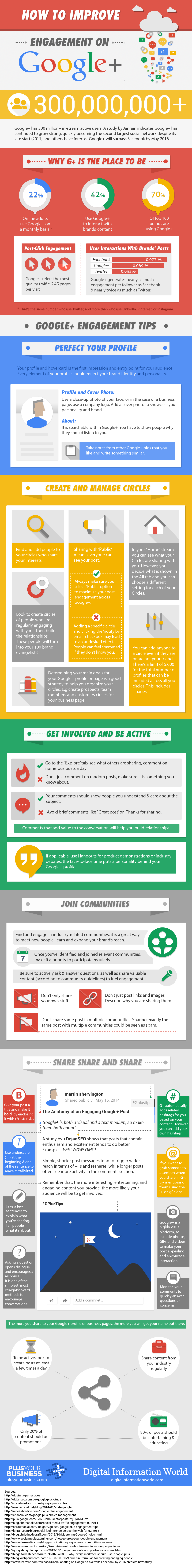 how to improve engagement on googleplus infographic-2014-june