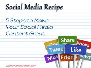 Social Media Recipe - 5 Steps