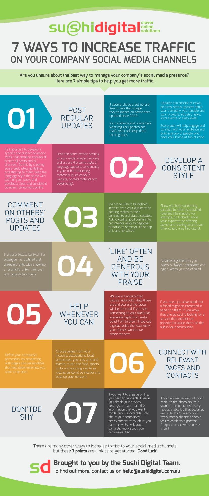 social media traffic tips